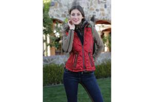 Goode Rider Essential Down Vest in Tomato