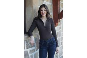 Goode Rider Long Sleeve Ideal Show Shirt in Chocolate