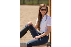 FITS Kate Knee Patch Breeches in  Ombre Blue