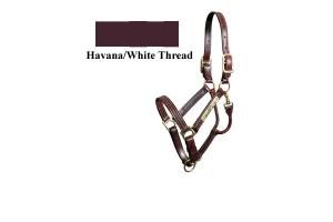 Walsh Kentucky Halter - Chestnut Brown Triple-Stitched Adjustable Chin