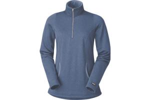 Kerrits Kids Heathered Half Zip in Blue Suede