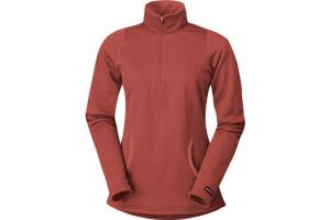 Kerrits Kids Heathered Half Zip in Ember Red