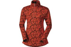 Kerrits Horseplay Zip Neck in Ember Red