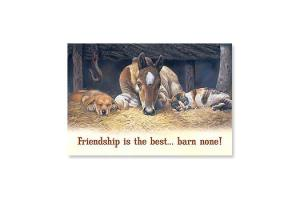 Friendship Is The Best - Barn None Horse Magnet