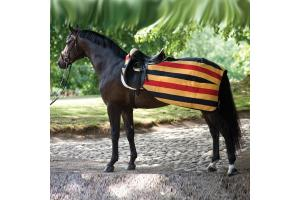 Rambo Newmarket Fleece Competition Sheet in Whitney Stripe and Gold