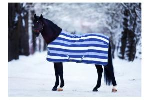 Rambo Newmarket Fleece in Witney Stripes/Navy