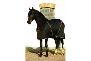 Rambo Newmarket Medium 200g Stable Rug in Black and Gold and Red
