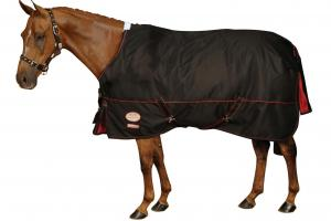 Weatherbeeta Orican Freestyle Standard Neck Medium 220g Turnout in Black and Chili