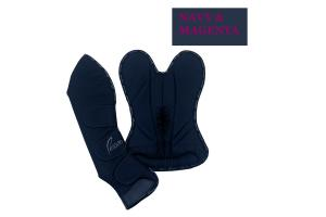 Pessoa Shipping Boots in Navy and Magenta