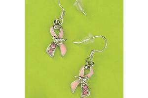 Wyo-Horse Pink Ribbion Horse Earrings