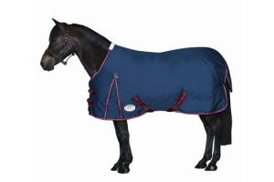 Weatherbeeta Pony Original 600D Standard Neck Lite Turnout in Navy and Red