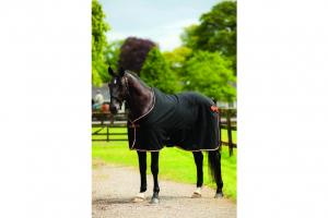 Rambo Show Rug Black Tan Orange