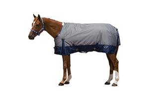 Saxon 600D Standard Neck Lite Turnout Sheet in Grey and Navy