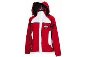 Equine Couture Regatta Rain Shell Jacket in Red and White