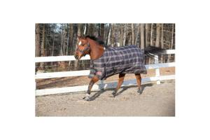 Shires Winter 1200 Denier Stormbreaker 300 in Graphite Check and Burgundy