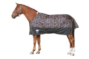 Weatherbeeta Orican Freestyle Lite Turnout Sheet in Black and Gold Squares