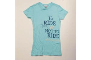 Stirrups To Ride or Not to Ride Tee Shirt in Aqua