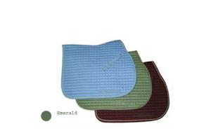 Emerald with Tan Toklat Passport Square Quilt Saddle Pad