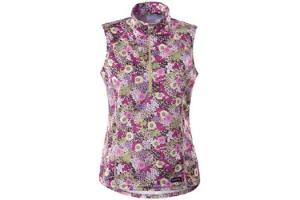 Kerrits Ventilator Sleeveless Shirt in Plum Flowers
