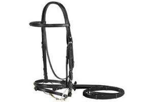 Vespucci Plain Raised Black Jump Bridle with Flash