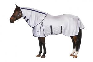 Weatherbeeta Airflow Detach-a-Neck Fly Sheet in Silver Navy and White