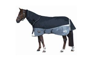 Weatherbeeta Freestyle 1680D Detach-A-Neck Medium 220g Turnout in Black and Silver