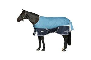 Weatherbeeta Orican Freestyle Standard Neck Medium 220g Turnout in Denim and Navy