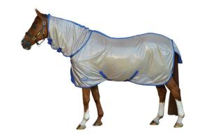 Weatherbeeta Genero Combo Neck Fly Sheet - Stone and Iris