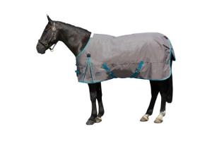 Weatherbeeta Original 1200D Lite Standard Neck Turnout in Gunmetal and Blue