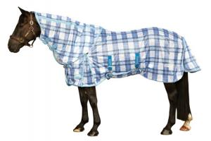Weatherbeeta Supa-Fly Insect Shield Detach-A-Neck Fly Sheet in Royal Plaid