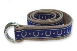 Horseshoes on Beige Designer Ribbon Belt