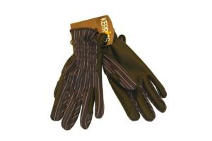 Kerrits Softshell Winter Riding Gloves in Navy Stripe