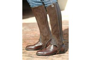 Ovation Premium Suede Stretch Ribbed Half Chaps