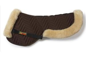Fleeceworks FWXK Halfpad with Rolled Edge in Brown