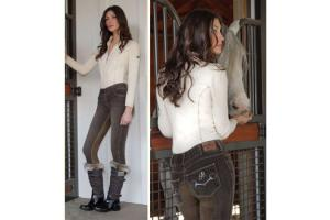 Goode Rider Horsebit Jean Rider Full Seat Breeches in Chocolate