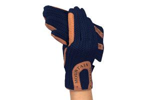 Mountain Horse Child's Crochet Gloves in Navy