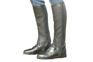 Ovation Top Grain Stretch Ribbed Half Chaps