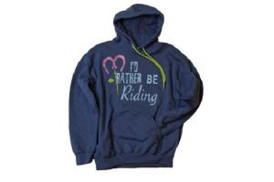 Stirrups I'd Rather Be Riding Hoodie in Blue