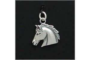 Sterling Silver Classic Horse Head Charm