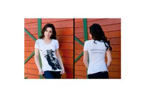 Cowgirls for a Cause Well Behaved Women Rarely Make History Tee Shirt in White