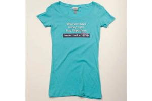 Stirrups Money Can't Buy Happiness Tee Shirt in Aqua