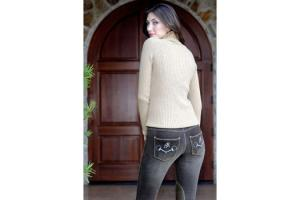 Goode Rider Horsebit Jean Rider Knee Patch Breeches in Chocolate