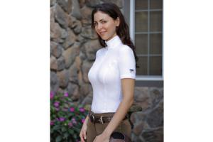 Goode Rider Long Sleeve Ideal Show Shirt in White