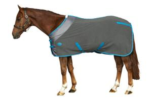 Weatherbeeta Fleece Cooler in Gunmetal and Blue