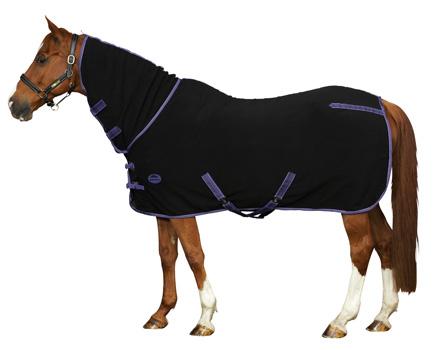 Weatherbeeta Fleece Combo Neck Cooler In Black And Purple