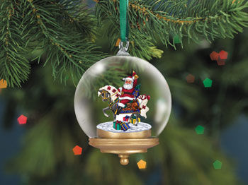 Breyer Glass Globe Ornament Gifts from Santa - 700413