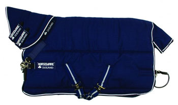 Rambo Stable Plus with Vari-Layer Heavy 450g Stable Rug in Navy and White