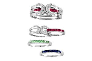 Kelly Herd Sterling Silver Interchangeable Horseshoe Rings