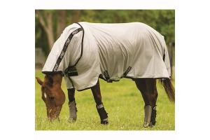 Amigo Stock Horse Fly Sheet in Silver and Black
