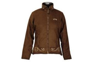 Equine Couture Valencia Suede Jacket in Chocolate